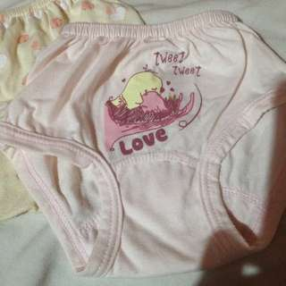 Preloved Baby Panties 3-6 months - Used Once