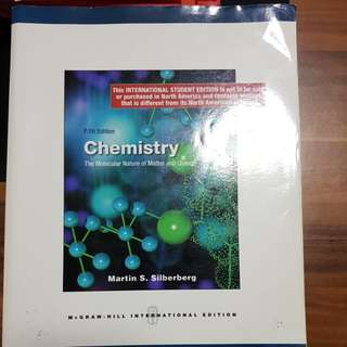 Cm1502 5th edition Chemistry the molecular nature of matter and change