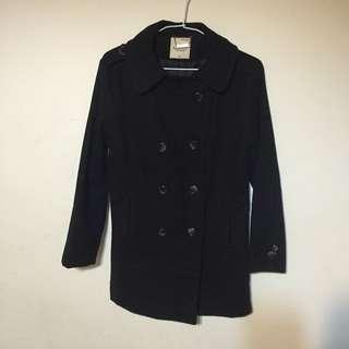 🚚 黑色毛料外套