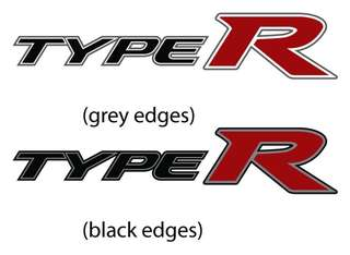 Type R sticker clearance sale