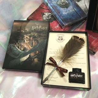 🎄XMAS🎄HARRY POTTER/Fantastic Beasts Hogwarts School  Acceptance Letter Feather Quill Calligraphy Fountain Pen Gift Set