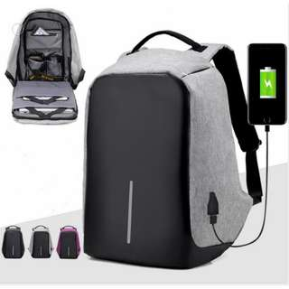 Anti theft proof laptop electronics bag water resistant with charging port
