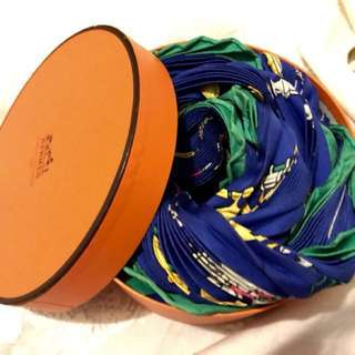 Hermes皺褶巾*可換物