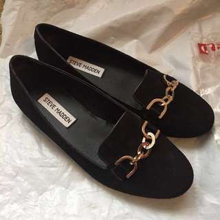 Steve Madden loafers (black suede)