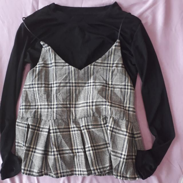 2PIECE CHECKED TOP