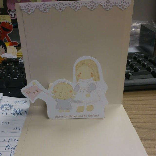 3D handmade birthday card/12x12cm/customized wordings and image/Unique/立體手工生日賀卡/12x12cm/自訂句子/自訂圖案/獨一無二