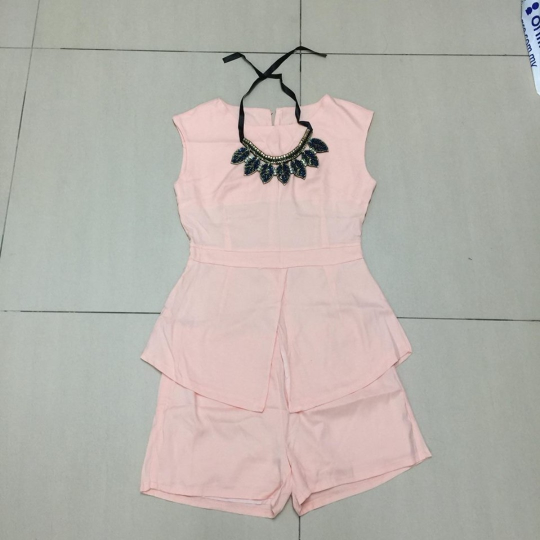 3in1 Set Necklace Romper