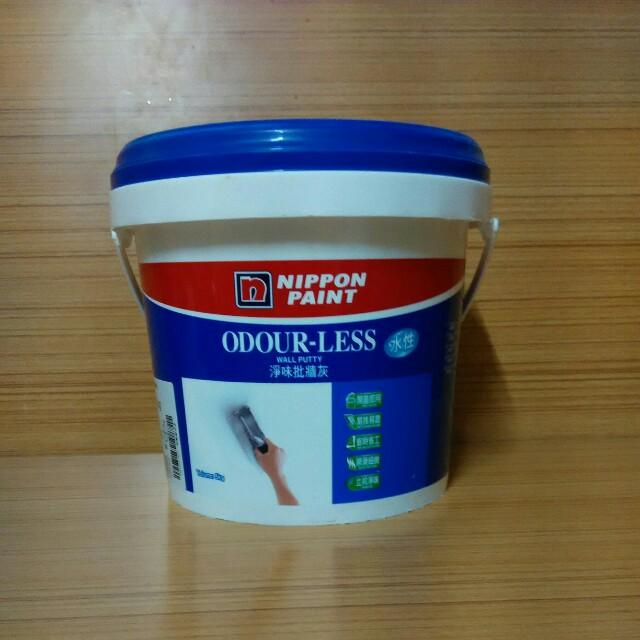 立邦凈味批牆灰,凈重5kg,家居牆身穿窿 可自行填補,開蓋即用,原價68元一罐 Everything Else
