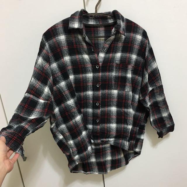 厚格紋襯衫
