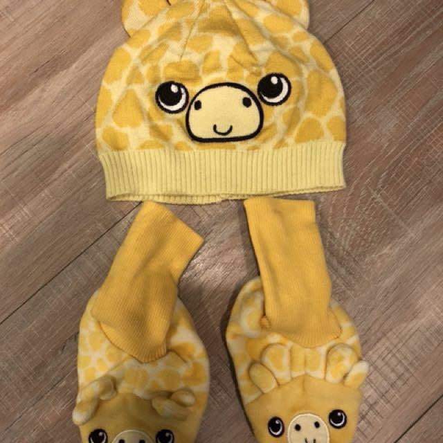 長頸鹿毛帽+襪套