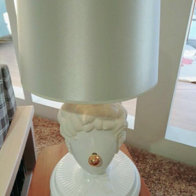 文藝復興設計風.三段觸控.石膏像檯燈