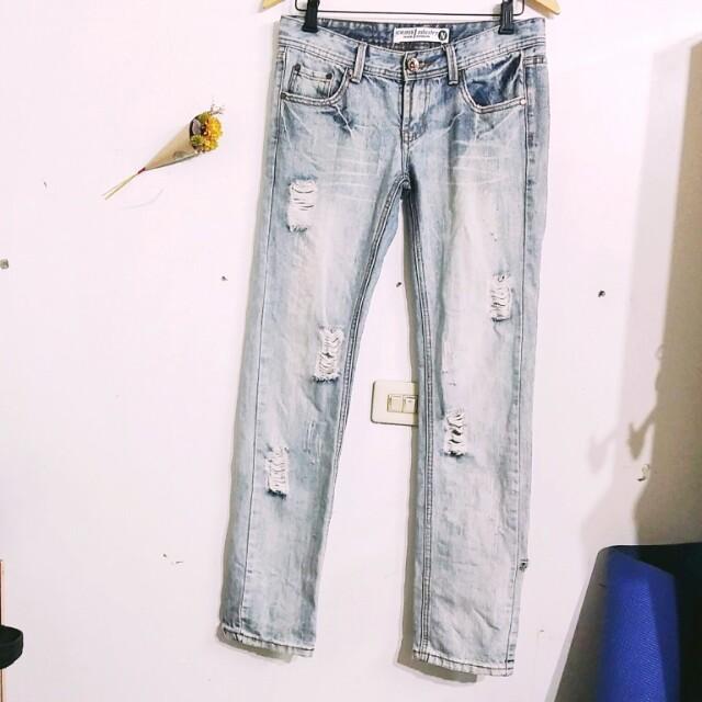 💕刷破淺色牛仔褲
