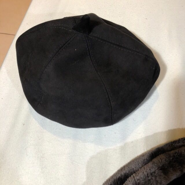 復古麂皮貝雷帽 畫家帽