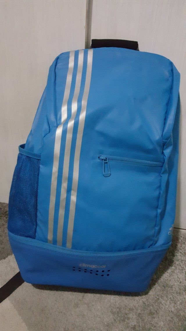 6969bc98b52 Adidas Climacool Backpack (blue   silver), Sports, Other Sports Equipment  on Carousell