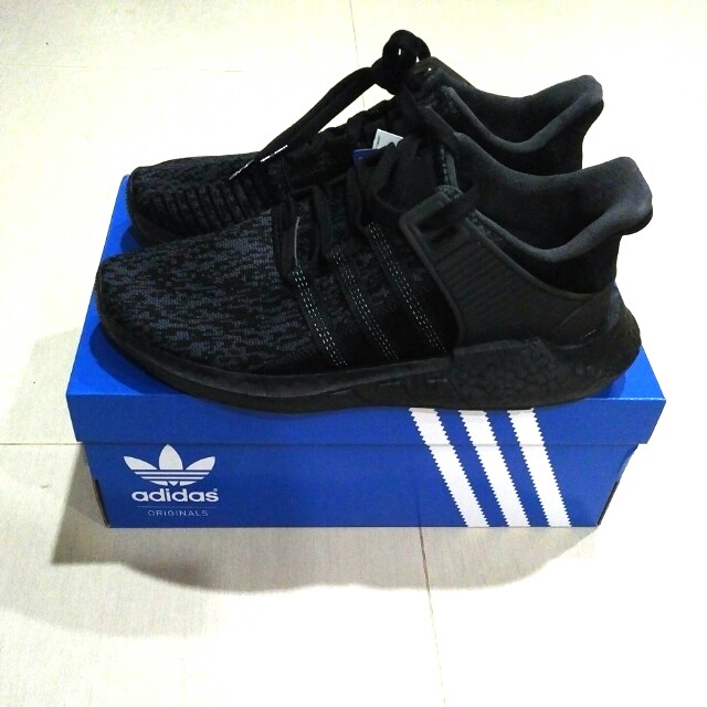 on sale 6ed24 23b2c Adidas EQT Support 9317 BY9512 Triple Black, Mens Fashion ..