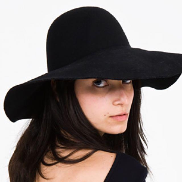 American Apparel Black Wool Hat
