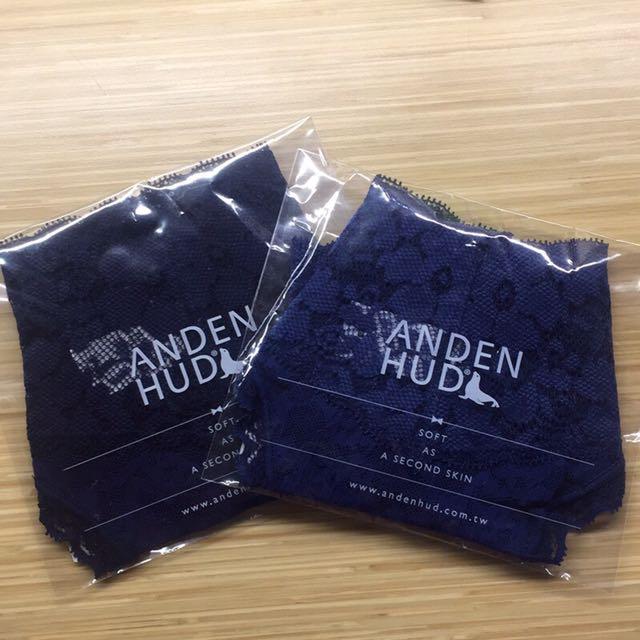 全新Anden Hud 12點玻璃鞋 v蕾絲低腰丁字褲 藏藍/古典藍 L號