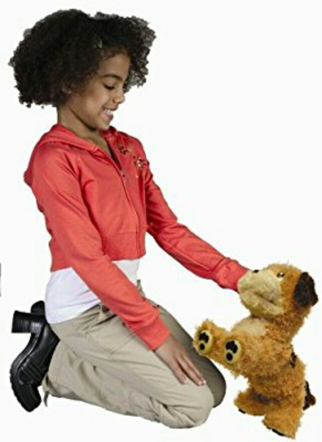 """AS NEW """"LUCKY"""" ROBOTIC INTERACTIVE TALKING DOG (PLUSH TOY), RESPONDS TO OWNER RP$100"""