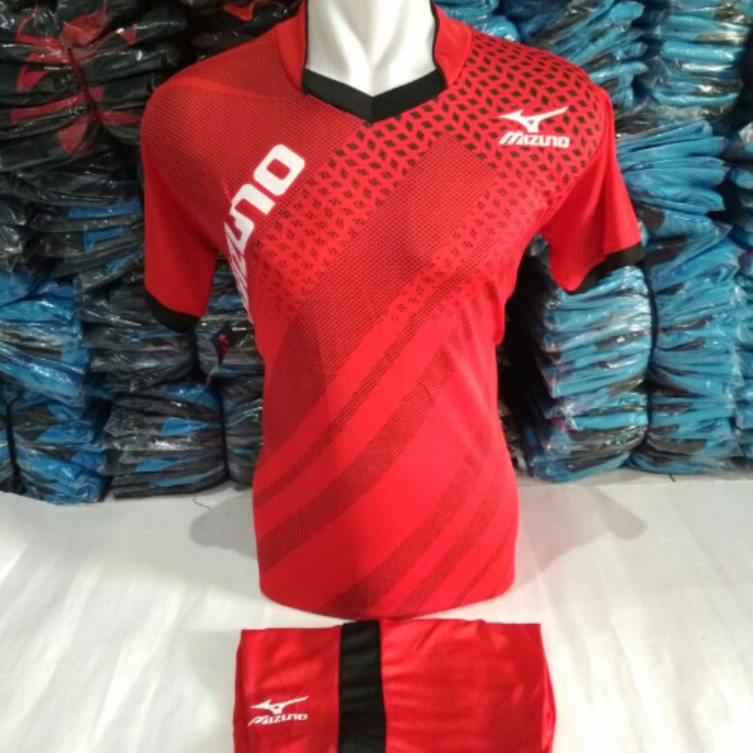 Baju Volly mizuno Merah .