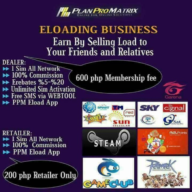 Be a LOAD DEALER & RETAILER❗❗❗ 1 sim in ur 1 phone LOAD TO ALL