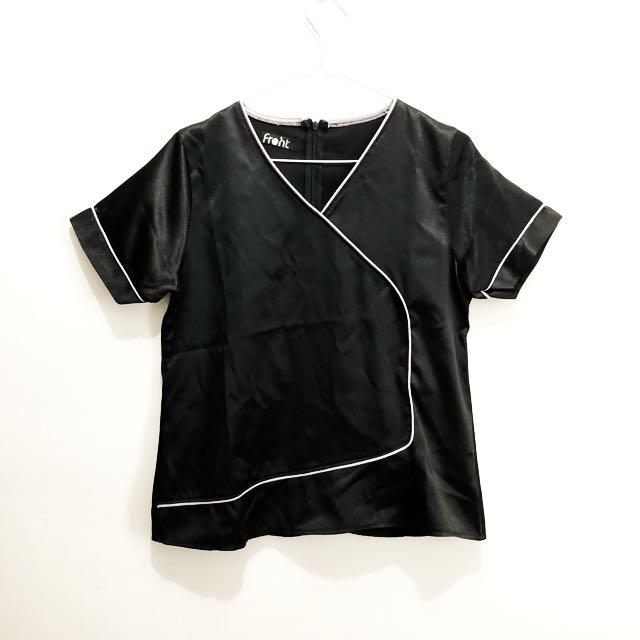 Black Blouse White Listed || blouse hitam baju hitam atasan hitam atasan murah baju murah baju second baju premium import