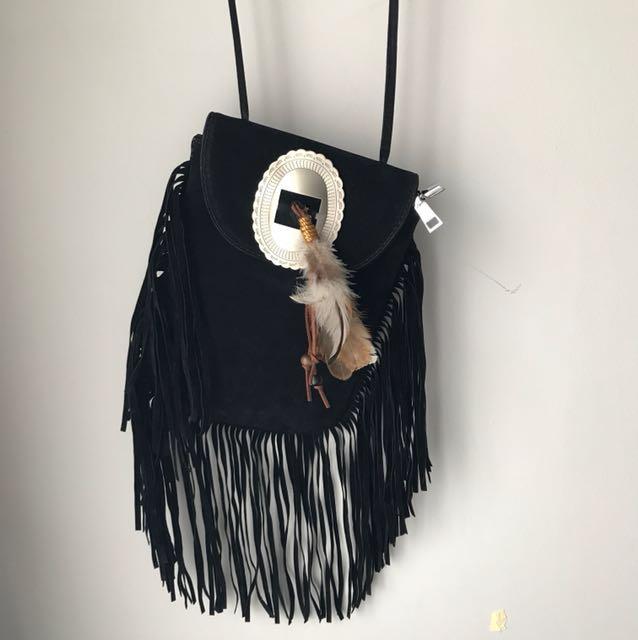 Black Bohem Sling Bag Small