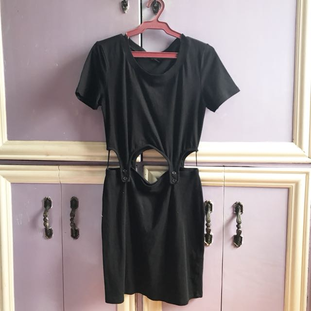 Black dress with cut-outs