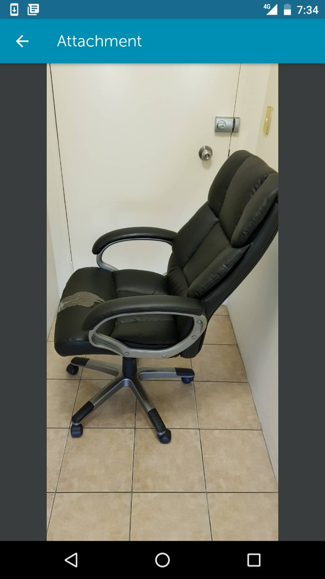 Black work chair