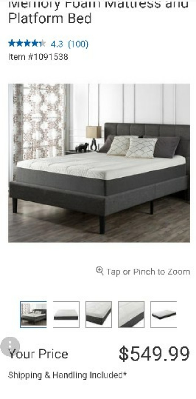 Blackstone Full size bed frame & mattress
