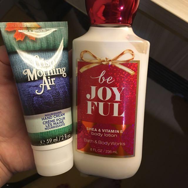 Body Lotion And Hand Cream (bath&bodyworks)
