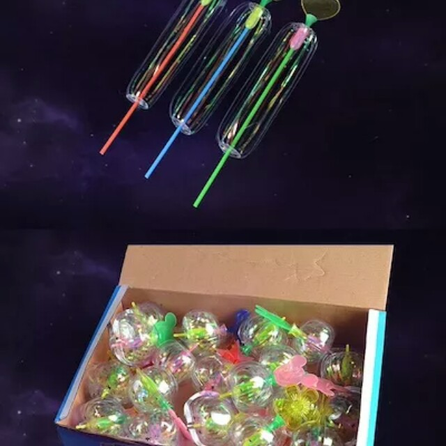 Bubble Flower Magic Wand Glow Stick Christmas Party Flash Light Special Kids Toys Colorful Flash