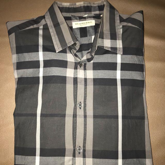 Burberry london classic design mens shirt in black L