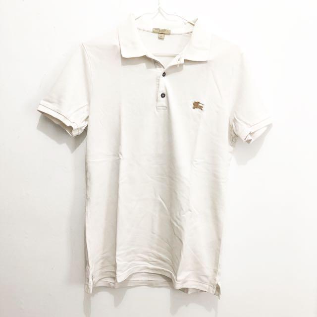 Burberry Polo Shirt White || polo burberry original putih