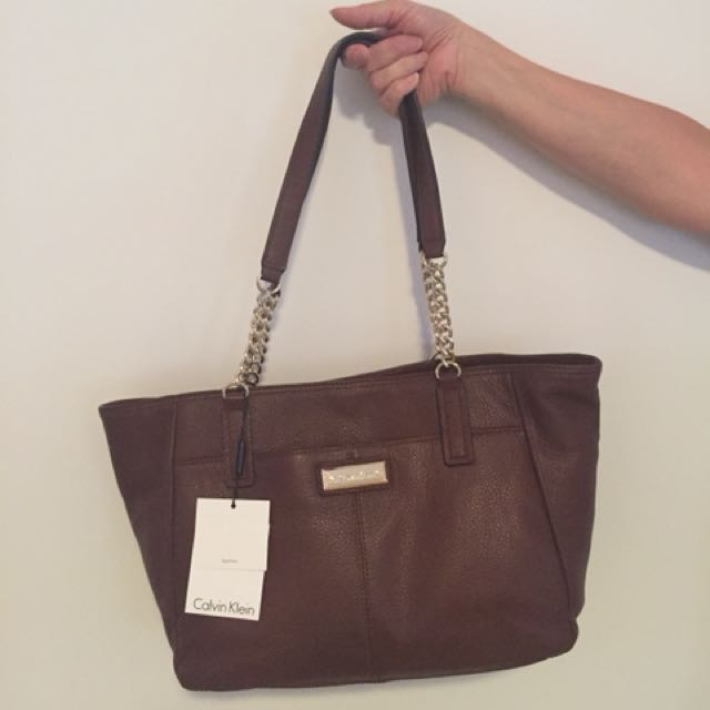 Calvin Klein leather tote bag