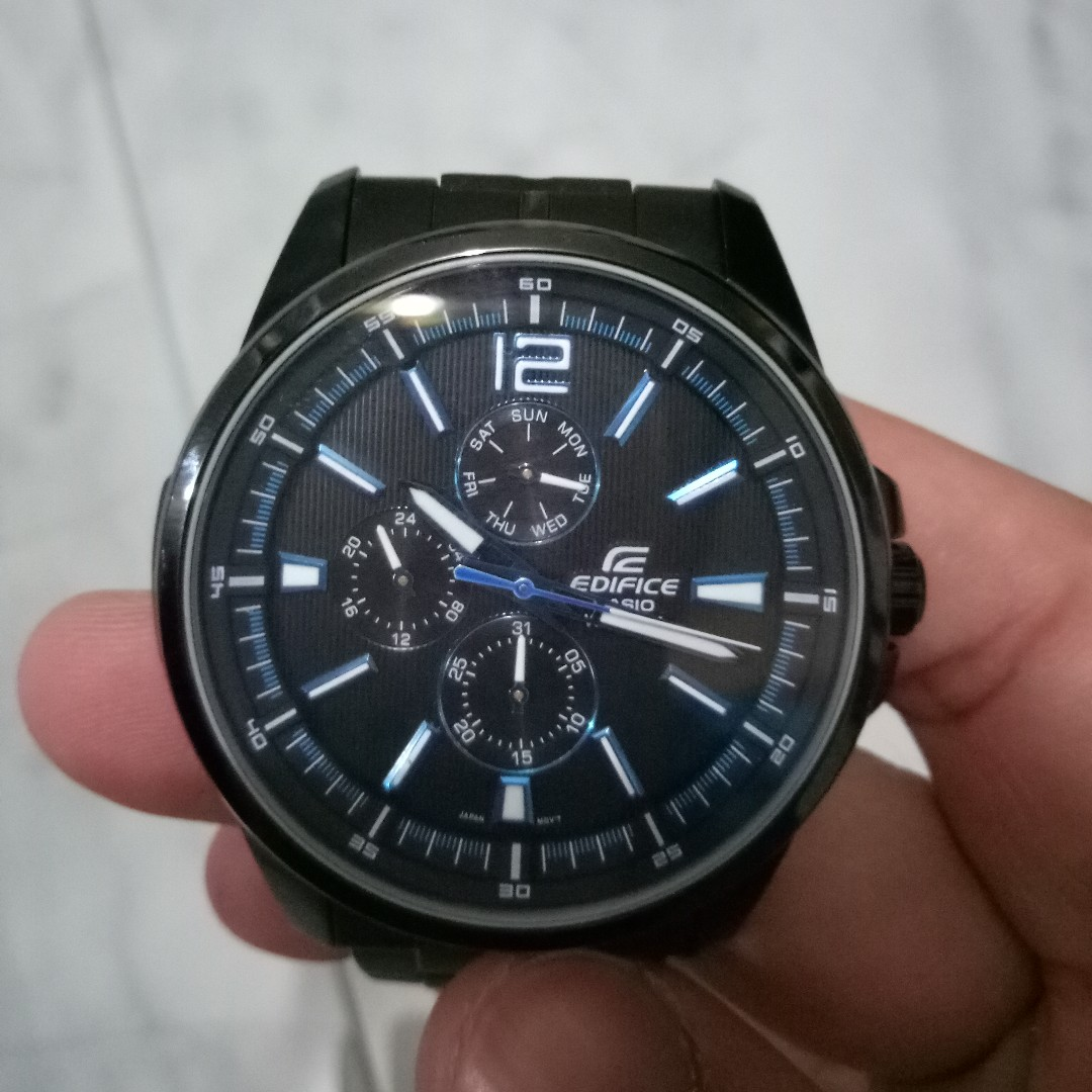 Casio Edifice Black Stainless Steel Strap
