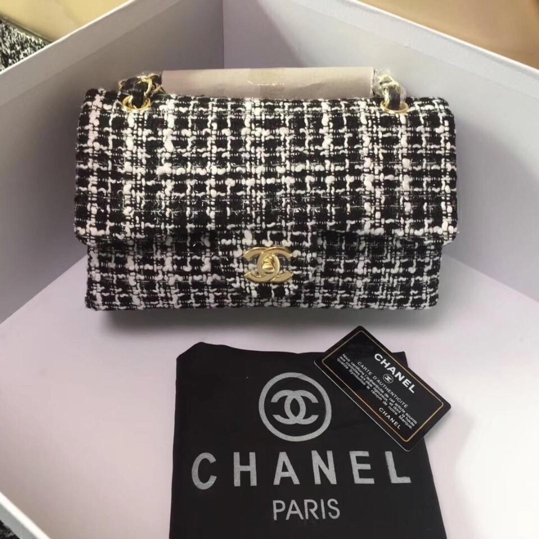 0ea8a0419d35 Chanel Tweed Classic Flap Bag, Olshop Fashion, Olshop Wanita on ...