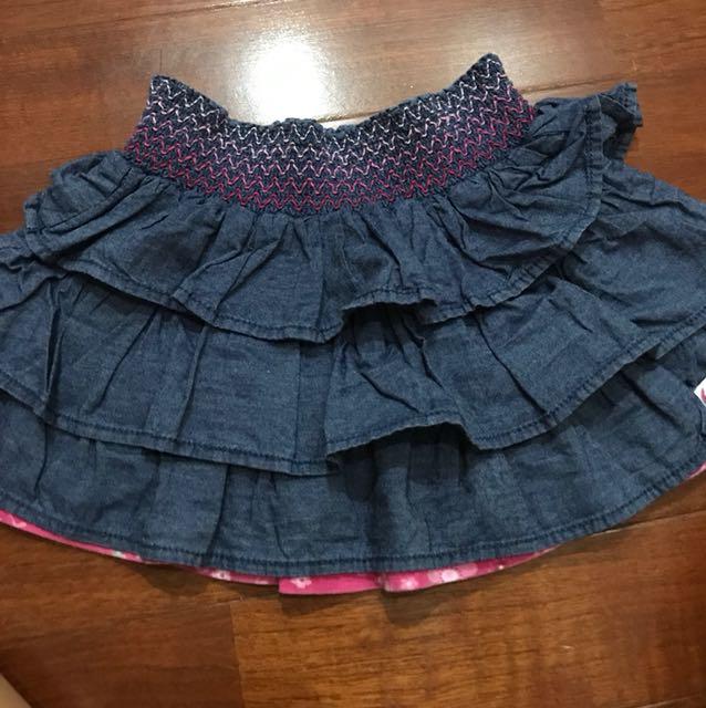 Denim colour skirt size 1