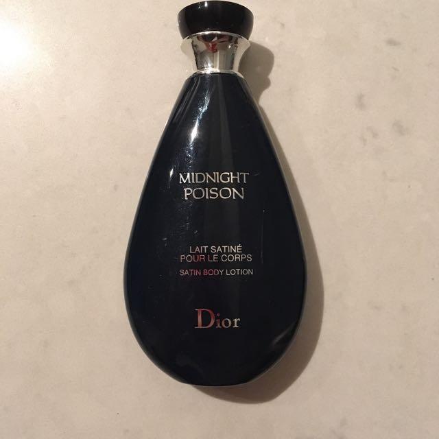 Dior Midnight Poison Satin Body Lotion
