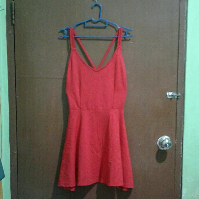 Red Skater Dress