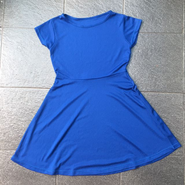 Electric blue mini dress