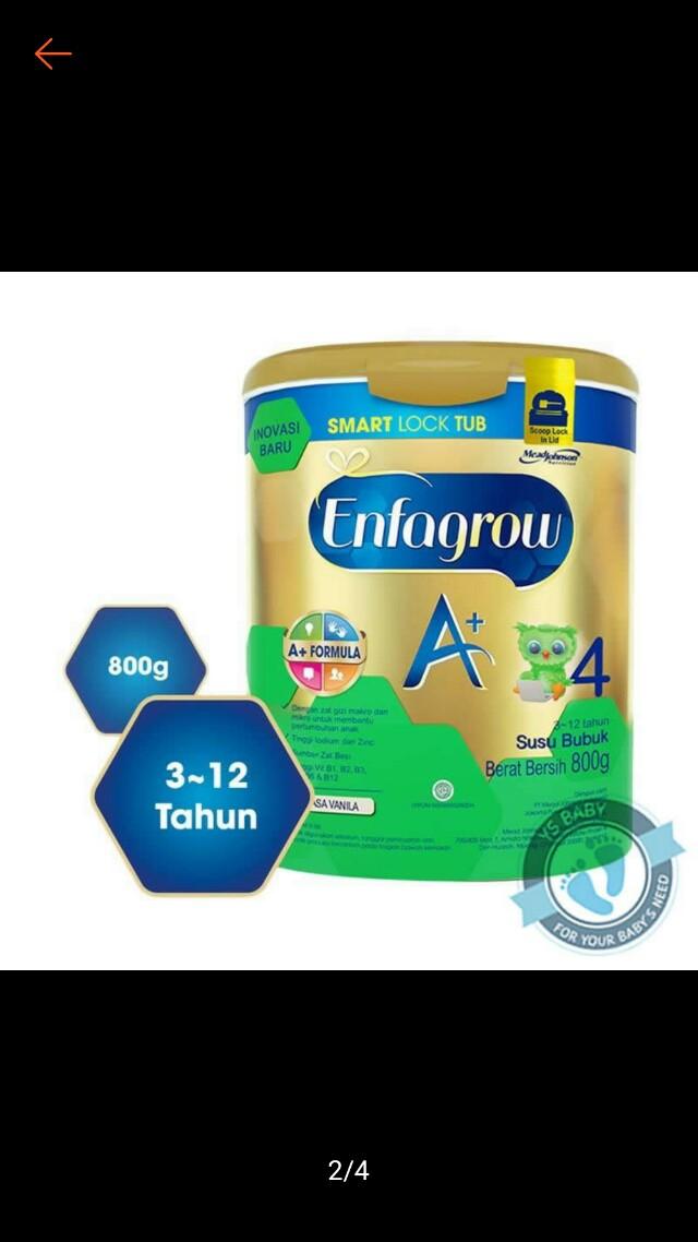 Enfagrow 3+ dan enfagrow 4+ vanilla madu