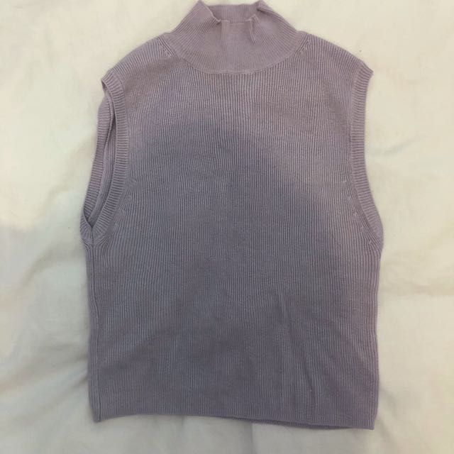 F21 Mockneck Cropped Sweater - Small