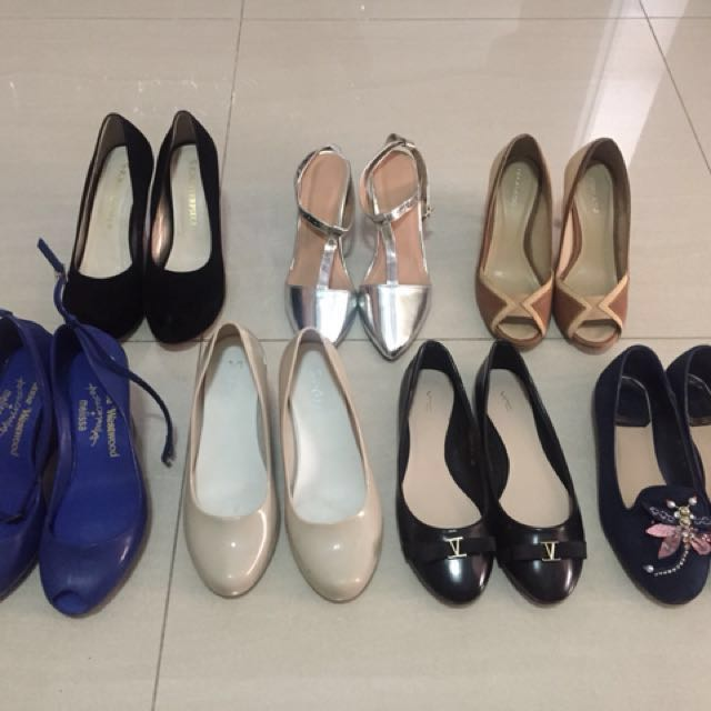 Flat and heels shoes
