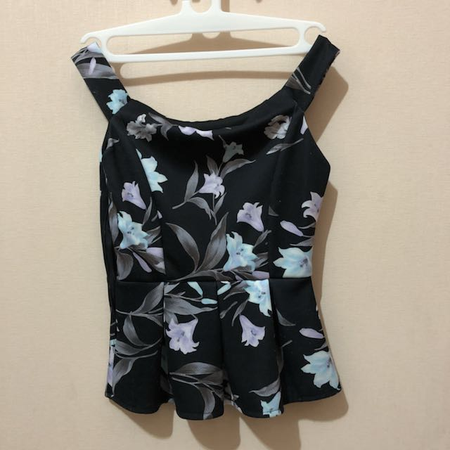 Flower peplum top