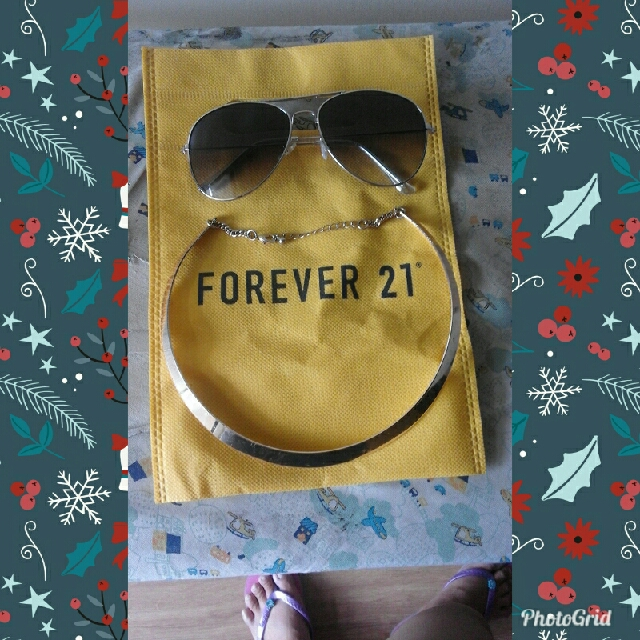 forever21 chocker and shades