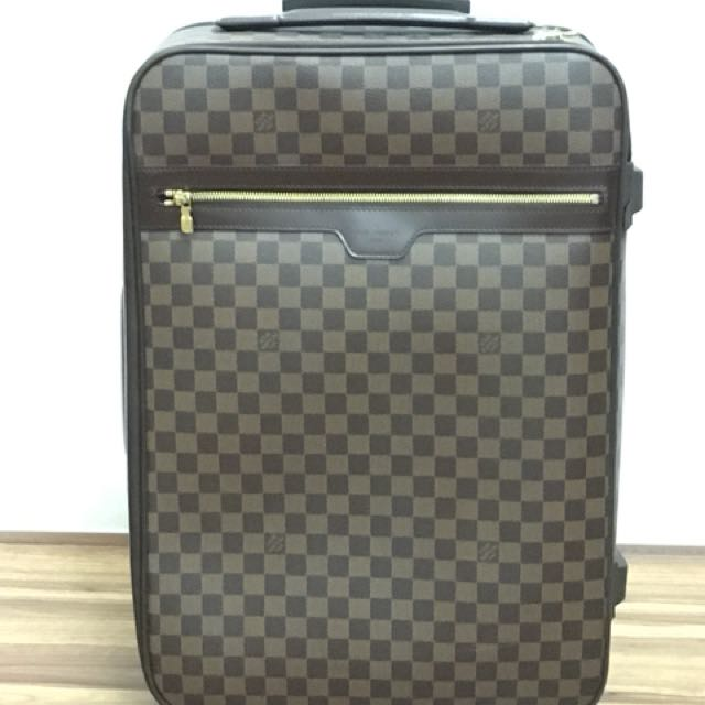 "39edda0dfbf0 Genuine Louis VUITTON AUTHENTIC DAMIER Ebene PEGASE 55"" Suitcase ..."