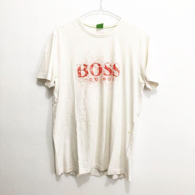 Hugo Boss White T Shirt || kaos hugo boss murah original