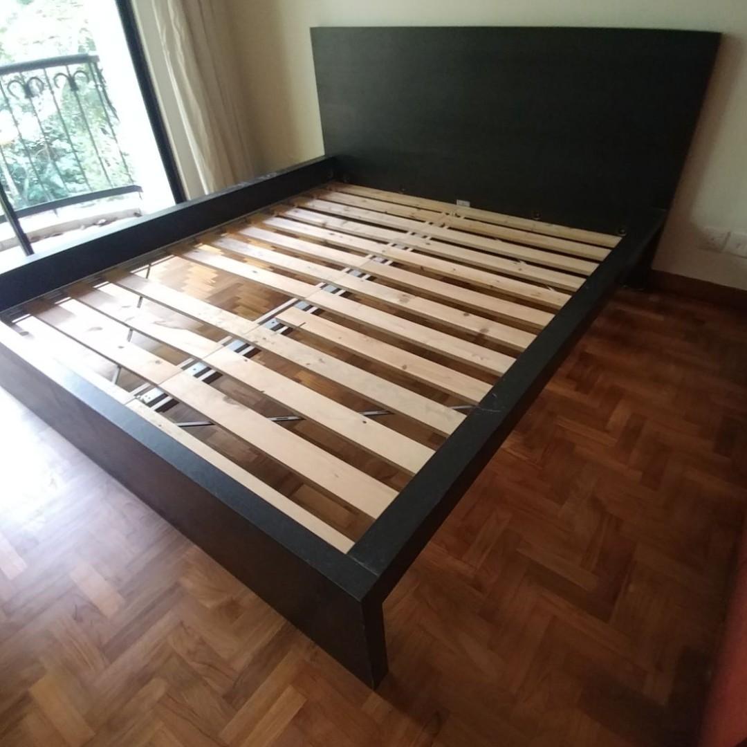 Ikea Malm Bed Frame High Black Brown Furniture Beds Mattresses