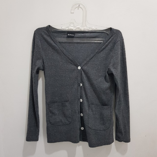 Import misty grey cardigan