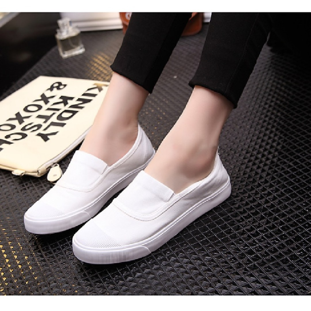 ec46b4713 In Stock!!! Casual Shoes Flat Lazy People a Pedal Canvas Shoes ...